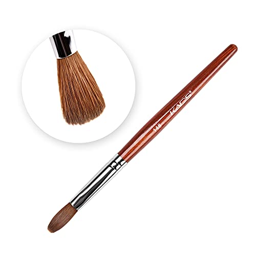 Kolinsky Sable Cepillo de uñas de pelo Bolígrafo de madera roja Gel UV Herramienta de pintura de manicura para uñas 14#