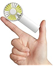 JISULIFE Mini Fan Battery Operated Handheld Fan with 2000 mAh Battery or USB Powered Personal Mini Fan,3 Speeds,Enhanced Airflow, Rechargeable Quiet Pocket Fan for Home,Outdoor