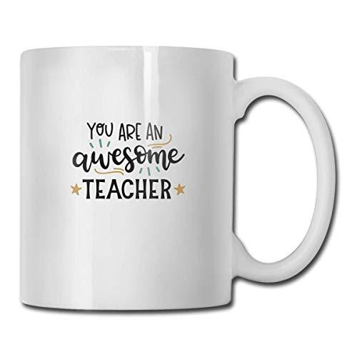 N\A Tazas de café novedosas Eres un Maestro Impresionante SVG Archivo Cortado Taza de Leche de té Blanco de cerámica 11 onzas