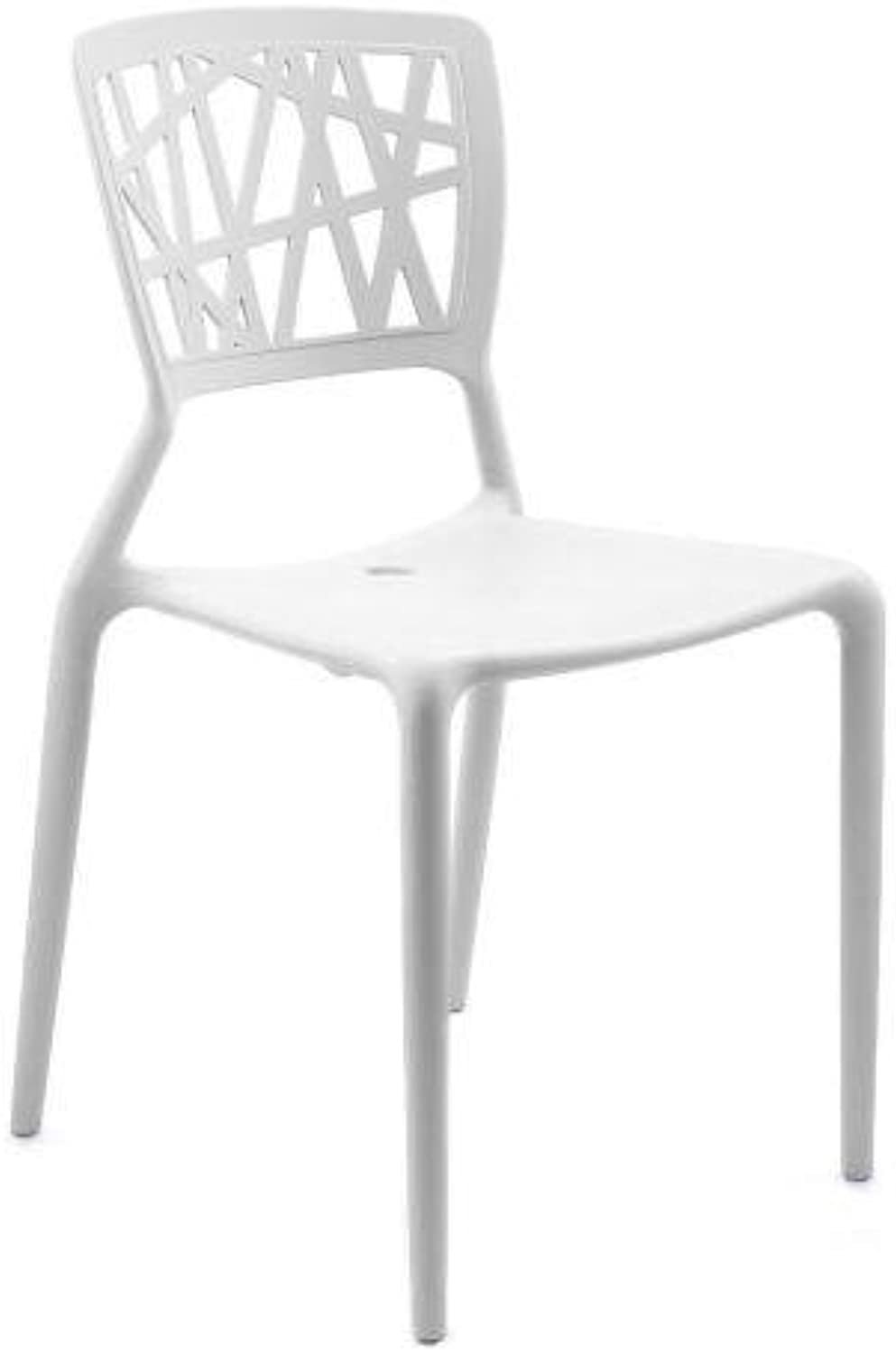 Set of 4 - Dondoli E Pocci Viento Replica Dining Chair - White