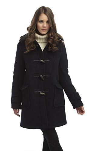 Original Montgomery Womens London Luxury Duffle Coat (Large, Navy)