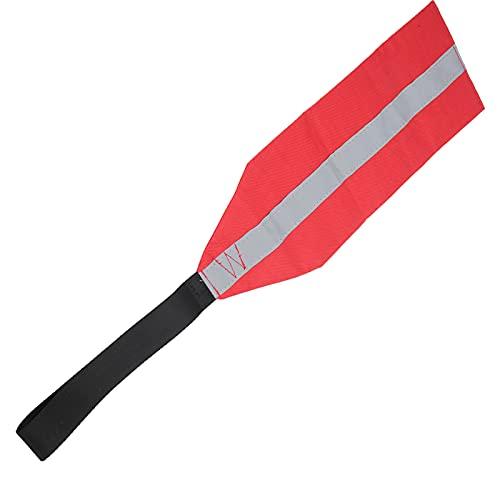Wosune Bandera de Seguridad para Kayak, Bandera de Advertencia de Viaje para canoas para Kayak, práctica para canoas para Botes para remolcar Kayaks(Tira Reflectante)
