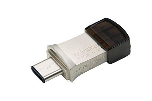 Transcend JetFlash 890 64GB USB Type-C zu USB 3.1 Gen 1 Dual Connector USB OTG Flash Drive für Android TS64GJF890S