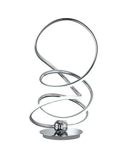 WOFI 8515.01.01.6000 A, Tischleuchte, Aluminium, 26 watts, Integriert, Chrom, 28 x 28 x 43 cm
