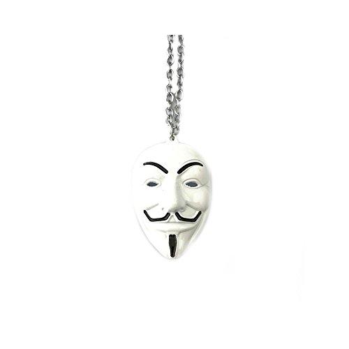 V para Vendetta disfraz de tono de plata w/caja de regalo por superhéroes