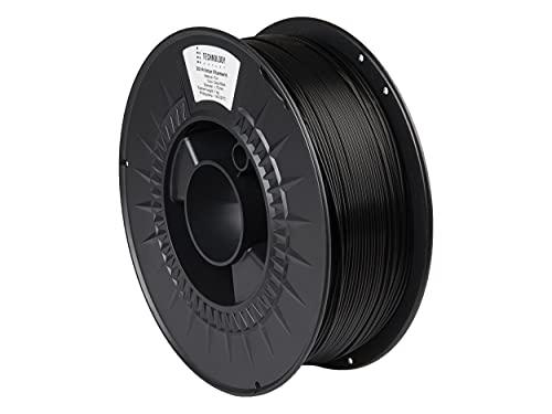 TECHNOLOGYOUTLET Premium 3D Printer Filament 1.75MM PLA Deep Black