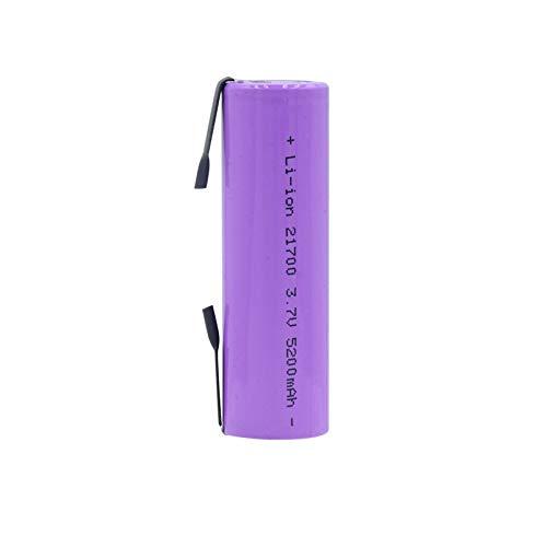josiedf Batería Li-Ion De 21700 3.7v 20a 5200mah, Alto Drenaje Recargable para La Linterna 10PCS