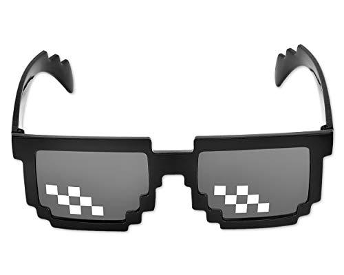Shopready Funny Sonnenbrille 8bit pixelbrille Sonnenbrille Cool Brillen Kreative Gläser Partei Begünstigt - schwarz