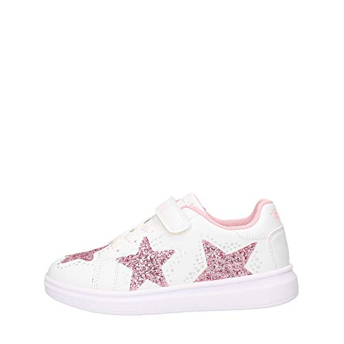 Lelli Kelly Sneakers Bassa con Stelle Laterali Bianco, 32