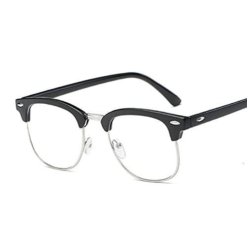 Heigmz Nvtyj Gafas de sol con marco transparente para mujer, montura transparente, marco transparente, marco de miopía, marco óptico (color del marco: arena negro)