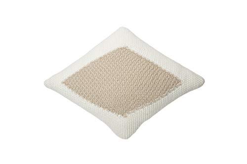 Lorena Canals - Cojín de Punto Candy Ivory-Linen - Marfil, Lino - Cubierta: 100% algodón/Relleno: 100% poliéster - 30x40 cm