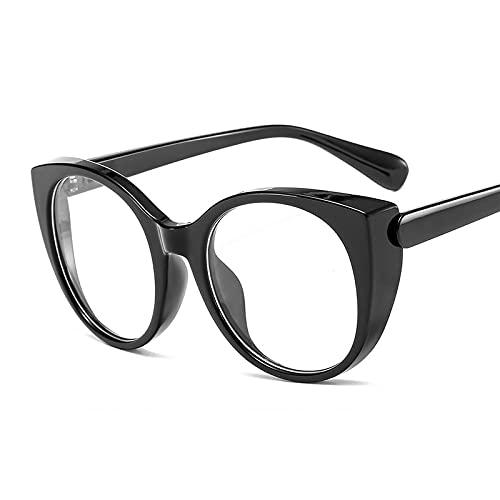 Gafas de Sol Sunglasses Gafas Ópticas De Ojo De Gato De Gran Tamaño para Mujeres Y Hombres, Gafas Transparentes Vintage, Montura De Anteojos, Montura De Gafas TransparentAnti-UV