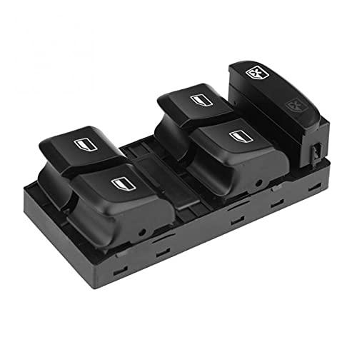 Phoenixset Interruptor de Control de la Ventana Principal del vehículo eléctrico del vehículo de automóviles Audi A4 S4 Q5 2009-2011 8KD 959 851 Accesorios para automóviles (Color : Black)