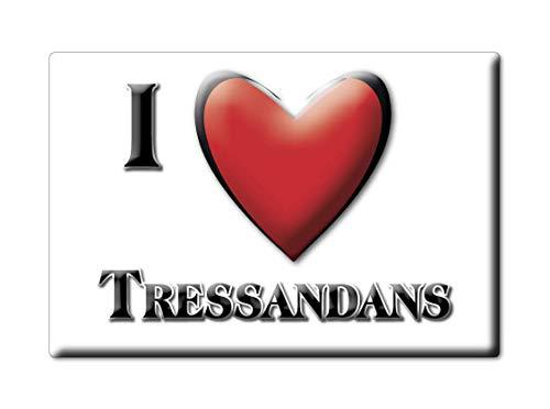 Enjoymagnets TRESSANDANS (25) Souvenir IMANES DE Nevera Francia ÎLE DE France IMAN Fridge Magnet Corazon I Love
