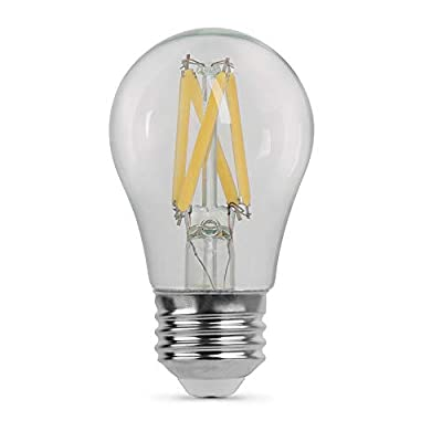 "Feit Electric BPA1575/827/FIL/2 75 Watt Equivalent 800 Lumen Dimmable A15 LED Filament Light Bulb E26 Base, 3.2""H x 1.85""D, 2700K (Soft White), 2 Piece"