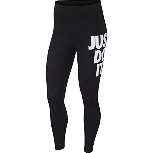 Nike Leg-A-See 7/8 JDI High Waist Leggings (S, Black/White)
