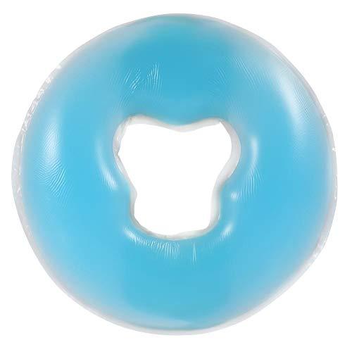 Cojín de gel para la cara, almohadilla facial viscoelástica para el reposacabezas o las ranuras de la cama de masaje, lavable y fácil de limpiar, 1 unidad (azul azul)