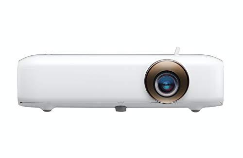 LG Beamer PH510PG bis 254 cm (100 Zoll) CineBeam HD LED Projektor (550 Lumen, 1280 x 720, DMD DLP Chip, inkl Integrierter Akku), weiß