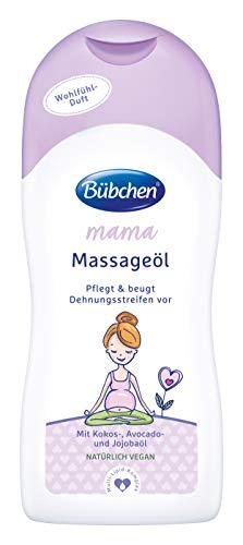 Bübchen Mama Massageöl, Körperöl gegen Denungsstreifen, mit Kokos-, Avocado- und Jojobaöl, (1 x 200ml)