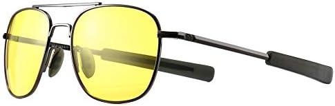 SUNGAIT Men s Night Vision Driving Anti glare Glasses Military Style Pilot Aviator eyewear Night product image
