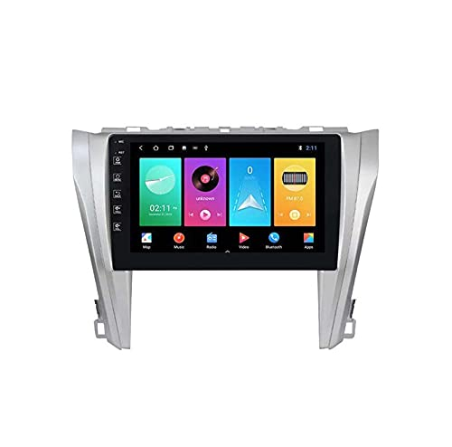 Android 10.0 4g Coche Radio Estéreo Doble Din Din Sat Nav Para Toyota Camry 2015-2017 Gps Navegación Gps Pantalla Táctil De 9 Pulgadas Unidad De Cabeza De Pant(Size:ocho núcleos,Color:WIFI:4GB