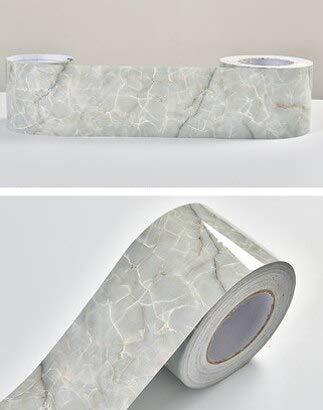yuandp Woonkamer Decor Rokken PVC Zelfklevende Vensterbank Film Waterdichte Renovatie Stickers Marmeren Taille Lijn Behang Randen 10cm x 10m