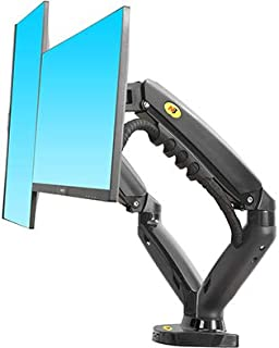 "North Bayou F160 Dual Monitor Full Motion Desk Mount with Gas Spring for Two Computer Monitors 17'' - 27"" LED LCD Flat Pan..."