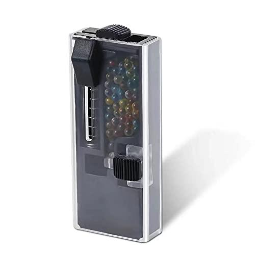 Dispensador de cápsula de cigarrillos con 100 filtros de cigarrillo mentol de mentol, cápsulas aromáticas DIY Explosión bolas cápsula filtro de clic de cigarrillo