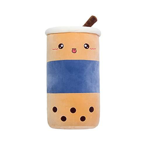 ZODSFG Real-Life - Taza de té con burbujas de peluche, para alimentos, leche, té, suave muñeco de leche, taza de té, cojín para niños, regalo de cumpleaños, color azul (50 cm)