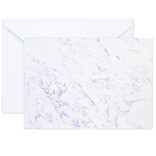 50Stück Marmor grau Einladung paper-for Hochzeiten, Geburtstage, Partys, besondere Anlässe–blanko Doppelseitige Papier–inkl. Umschläge, 12,7x 17,8cm