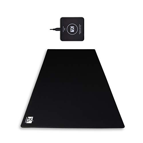 XXXL Mouse Pad with Wireless Charger (48''x24''x0.2'') - 3XL Extra Large Gaming Mousepad for Full Desk - Super Thick Nonslip Rubber Base and Waterproof Desktop Keyboard Extended Mouse Mat