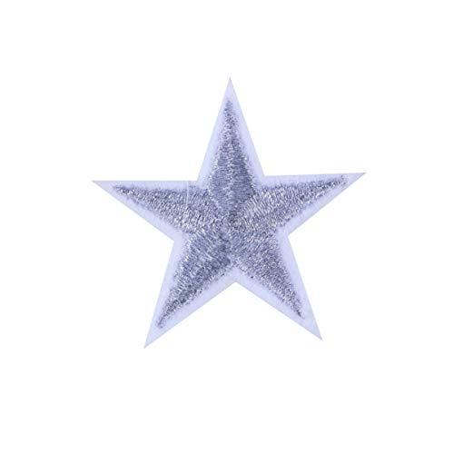 EXCEART 10 Piezas Apliques Parches Parches Decorativos de Estrellas Parches Bordados para Chaquetas Jeans Bolsos Ropa Artes Artesanías Plata