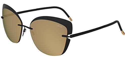 Silhouette Gafas de Sol ACCENT SHADES 8166 Black/Brown Gold talla única mujer