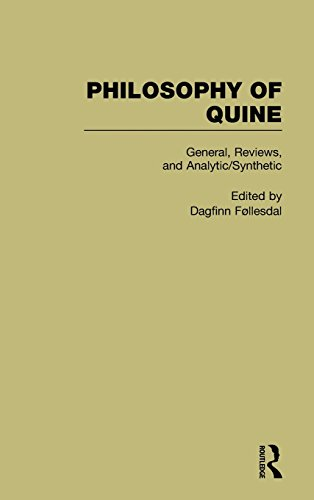 General, Reviews, and Analytic/Synthetic : Philosophy of Quine, Volume 1