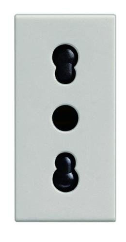 candela bianca - presa 2P+T 10/16A bipasso 687080