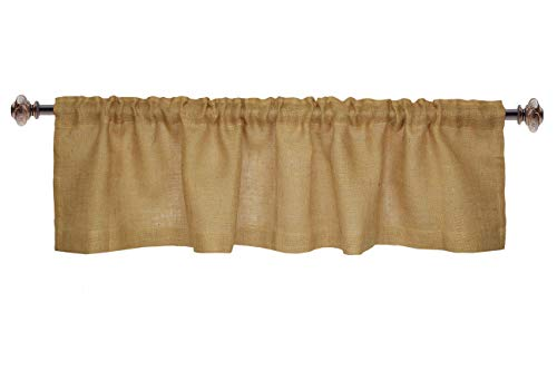 Jute Burlap Window Valance