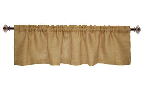 Orient Originals Inc. Cotton Craft – 100 % Jute, natürliches Fenstervolant – Set von 2 – Größe – 40,6 x 183,9 cm – aus umweltfreundlicher, 100 % natürlicher Jute