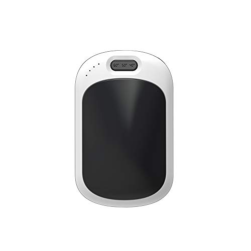 LAFALInK Calentador de manos recargable, 6400 mAh, portátil, calentador de bolsillo USB,...