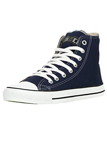 Ethletic Unisex Sneaker Hi Fair Trainer White Cap Ocean Blue | just White 40 Fair | Vegan | Nachhaltig