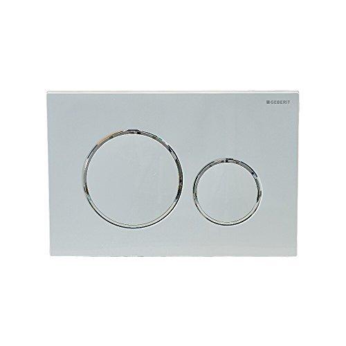 Geberit Betätigungsplatte Sigma20 für 2-Mengen-Spülung, Farbe: weiß, hochgl.-chrom, weiß, 115.882.KJ.1