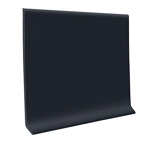 ROPPE 700 Series Black 6 in. x 120 ft. x 1/8 in. Thermoplastic Vinyl Wall Cove Base Coil