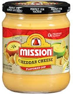 Mission Cheddar Cheese Dip, 15.5 Oz., (Pack of 4)