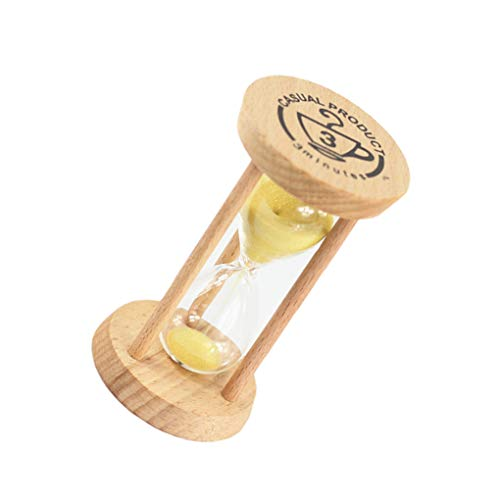 probeninmappx Madera de Reloj de Arena del Reloj de Arena 3 Minutos de Reloj de Arena Reloj de Arena del Cepillo de Dientes de los niños Temporizador Contador de Tiempo Regalo de los niños decoración