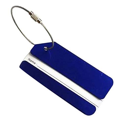 Demarkt Kofferanhänger Kofferschild Gepäckschild Travel Gepäck Gepäckanhänger mit Adressschild Namensschild (Blau)