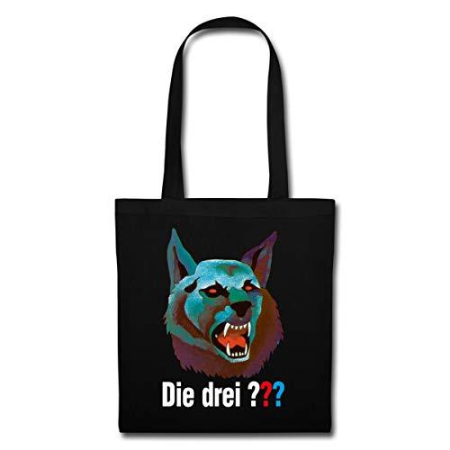 Spreadshirt Die Drei ??? Und Der Karpatenhund Cover Logo Stoffbeutel, Schwarz