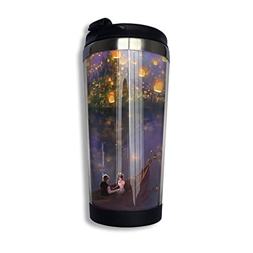 Enredado Rapunzel Cup - Taza de café con aislamiento al vacío, de acero inoxidable 304, bonito y práctico 400 ml