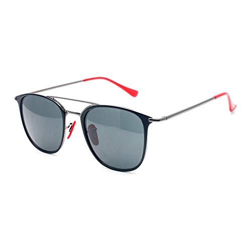 Gafas de sol para hombres y mujeres con lentes de vidrio-F189 / 9A negro gris