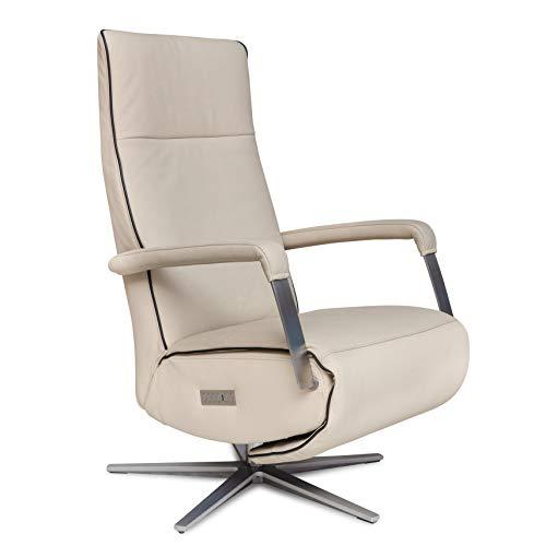WELCON Relaxsessel und TV Sessel STYLISTA in Echtleder beige