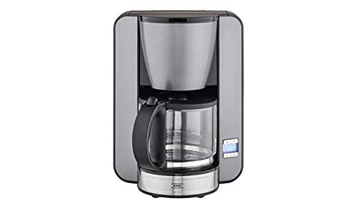 KHG Kaffeeautomat Grau Glas 26,0cm B x 33,0cm H