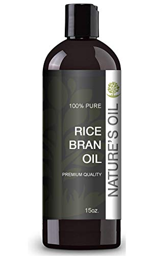 Rice Bran Oil (15oz.) by Nature's Oil - 100% Pure and Cold Pressed Professional Massage Oil Or Carrier Oil for Diffusers. Great Skin Moisturizer.